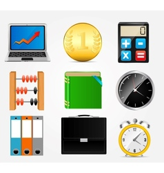 Business icon set1 vector
