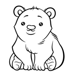 Cute polar bear vector