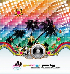 Tropical dance disco flyer vector