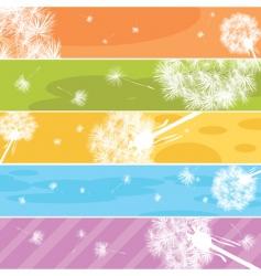 dandelion web banners vector image