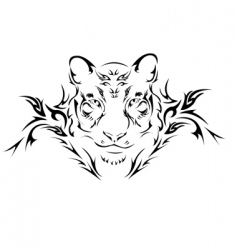 tattoo tiger vector image
