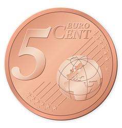 5 euro cent vector
