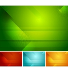 Bright abstract tech backgrounds vector image