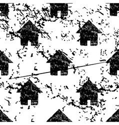 Home pattern grunge monochrome vector