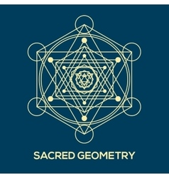 Sacred geometry hipster symbols and elements vector