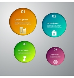 Infographics 4 circle options vector
