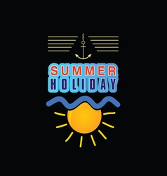 Summer holiday icon vector