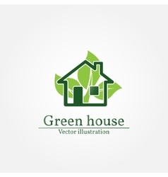 Green house logo energy saving concept vector