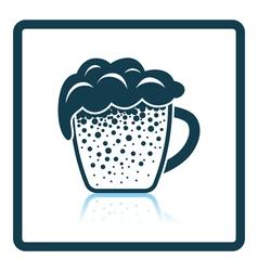 Mug of beer icon vector