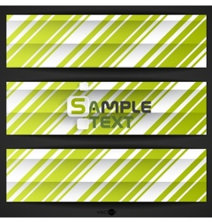 Abstract Green Stripe Background vector image vector image