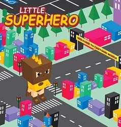 Amazing superhero isometric world theme vector