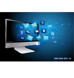 Application computer concept vector