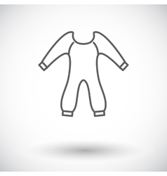 Baby clothes vector image vector image