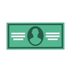 bill paper money icon vector image