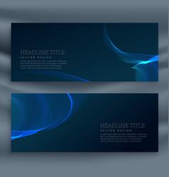 Blue dark banner template vector