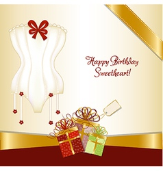 Bridal shower greeting card vector