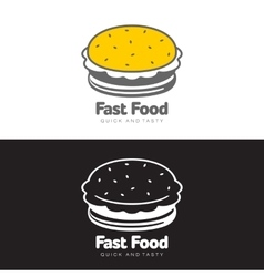Burger logo set vector image