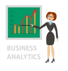 Business analytics vector image