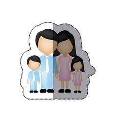 Color family with their children icon vector