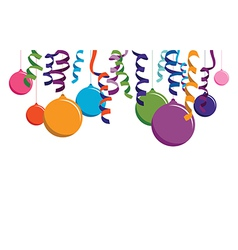 colourful balloon banner vector image vector image
