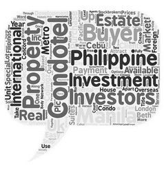 Condotel Investments in the Philippines Attract vector image vector image