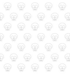 Cute skull icon vector