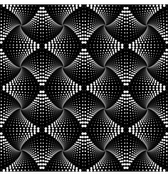 Design seamless monochrome dotted pattern vector image