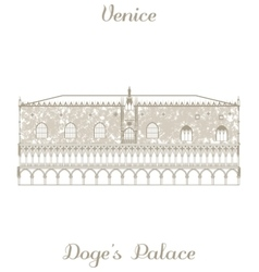Doges palace vector