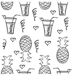Doodle of juice hand draw vector