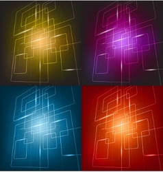 Four colorful background vector image