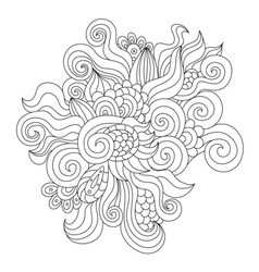 Hand drawn zentangle element vector