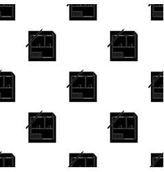 House planrealtor single icon in black style vector