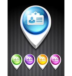 identity card icon vector image vector image
