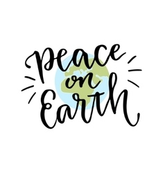 International day of peace hand lettering vector