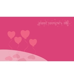 Landscape love balloon background valentine day vector