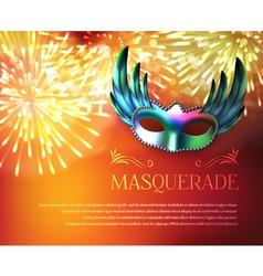 Masquerade fireworks display poster vector