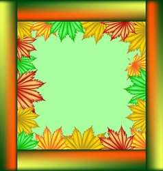 Postcard School of maple leaves vector image