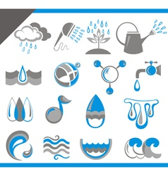 Set of water icons for design vector image vector image