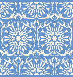 white and blue pattern vector image