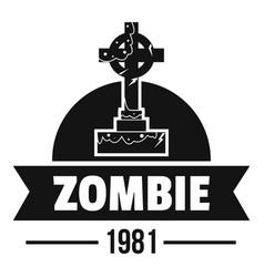 Zombie dark logo simple black style vector