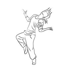 Hip-hop woman dancer vector image