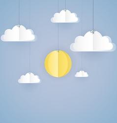 Paper sky vector image