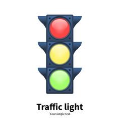 Luminous traffic light signal vector