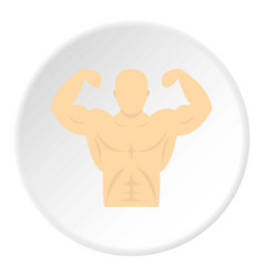 athlete icon circle vector image