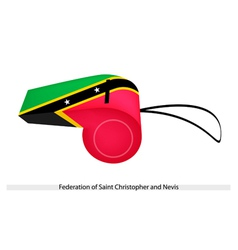 A whistle of federation of saint kitts and nevis vector