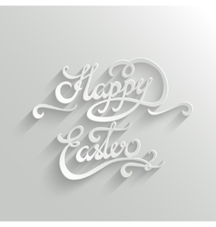 Happy easter lettering greeting card vector