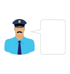 police avatars and User Icons vector image