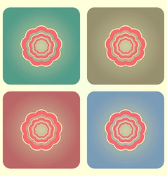 Abstract flower buttons vector