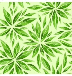 Seamless pattern with green leaves vector