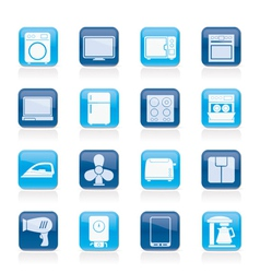 Home appliance icons vector